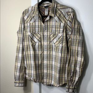 Patagonia plaid long sleeve buttoned shirt